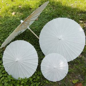 60cm/40cm/30cm/20cm DIY White Paper Umbrella Small Kids Gifts Paper Parasols