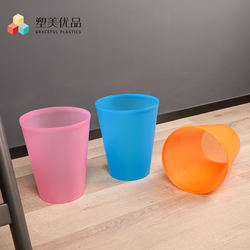 Nice plastic round dustbin sand matting eco friendly plastic colorful waste bin