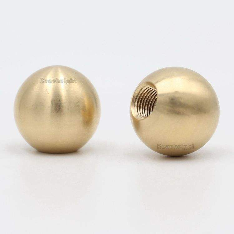 1 inch 3/8-27 female threading Steel Solid Brass Ball