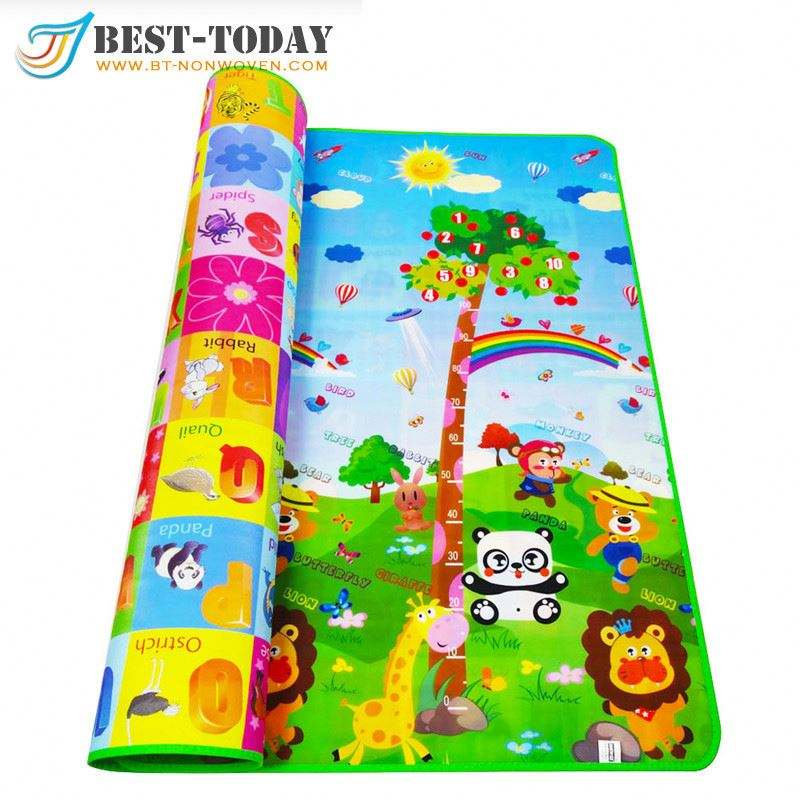 150*120cm Baby Play Gym Mat Kids Plastic Twister Game Play Mat Met LED