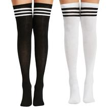 Wholesale custom womens over the knee multi-colors cotton young long women thigh high socks for ladies