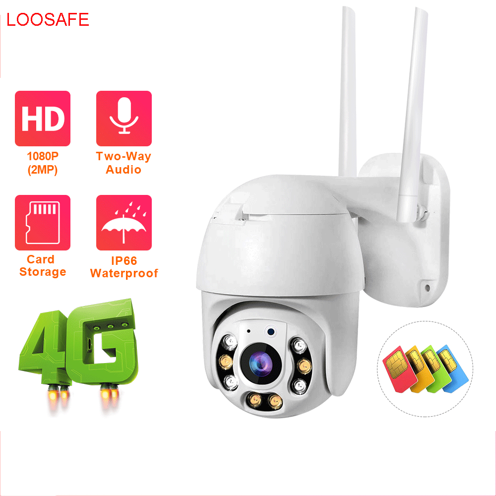 LOOSAFE 4g sim card ip camera outdoor 1080P H.265X 1920x1080 Resolution 5x ptz zoom camera baby shower mini ptz ip camera