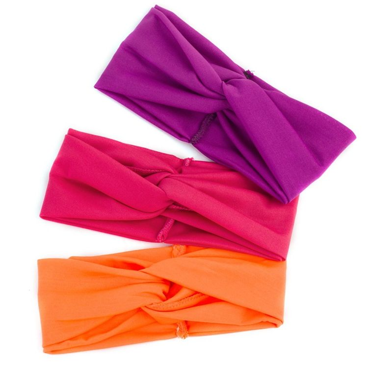 Fashion High Elastic Wide Hairband Sport Spa Headband For Women Twist Knot Head Band