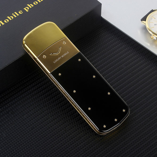 Unlocked metal body business feature Luxury Gold phone K6 without camera Classic Design Dual sim card MP3 telefono movil