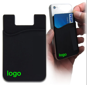 2020 Promotional gifts custom 3m sticker mobile phone silicone card holder