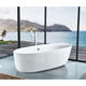 Bath tub modern art baths oval for bathroom