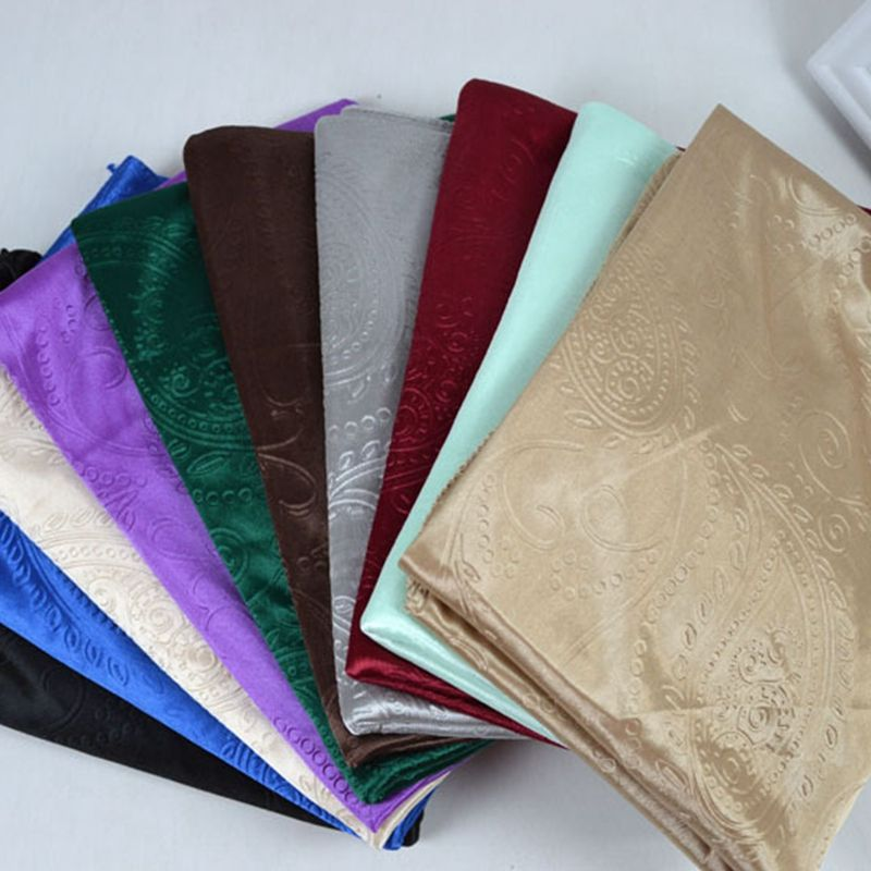 Muslim women headscarf silk feel luxury embossed paisley satin shawl plain hijab