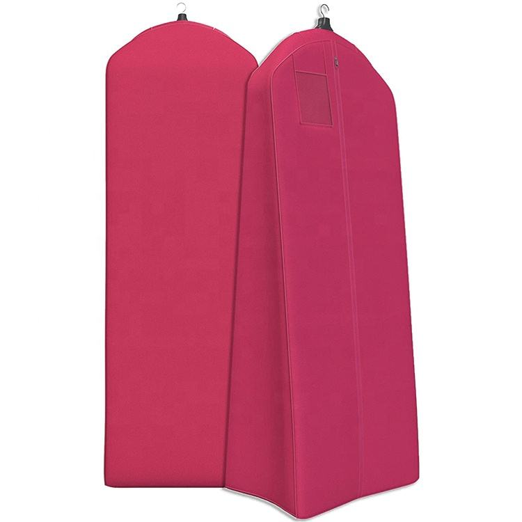 Women's Garment Bag For Long Dresses Wedding Gowns Tapered Gusset