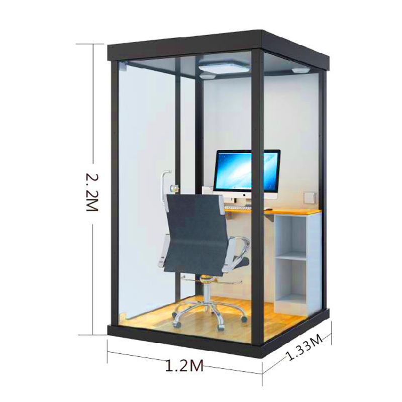 Mini Sound Insulation Booth Soundproof Working Room Live Broadcasting Pod Private Telephone Box Quite Commercial Office Meeting