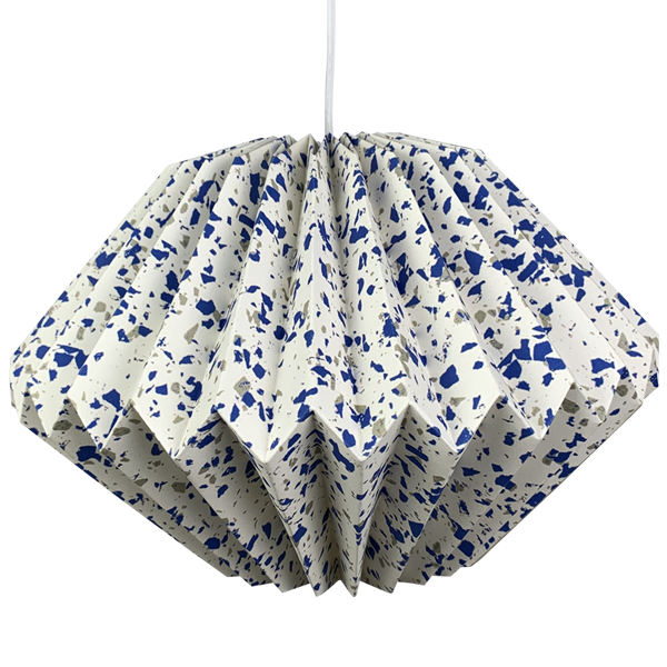 Modern Polygon Printed Origami Paper Lampshade