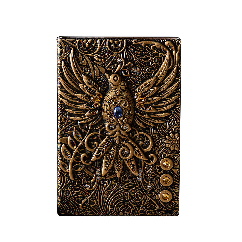 A5 Phoenix leder hard cover notebook, Klassische Kreative 3D geprägte leder notebook, Reise Journal
