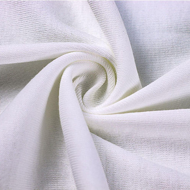 White pima cotton knitted fabric