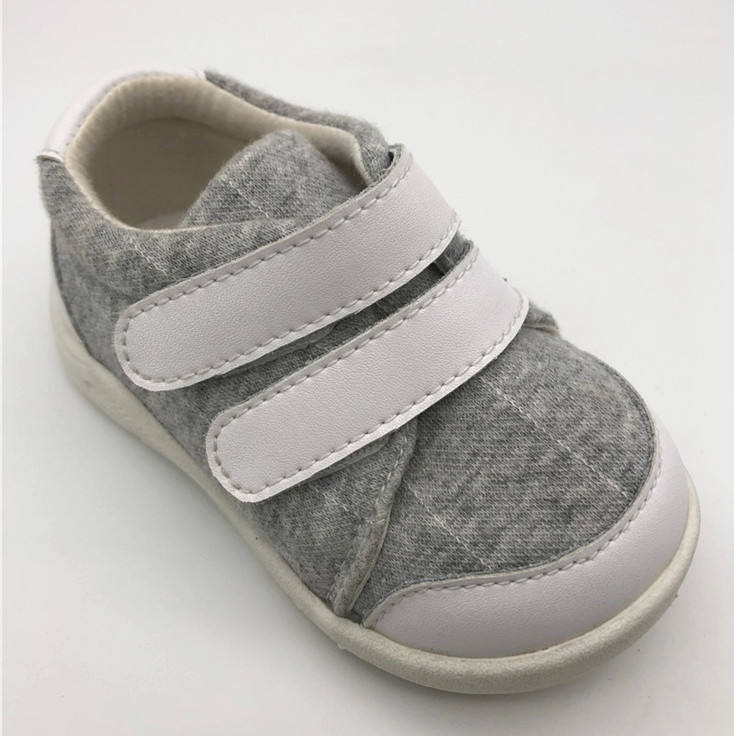 Cozy Stylish Double Strap Cotton TPR Casual Baby Kids Shoes