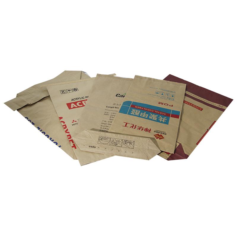 Customized 25kg 50kg Multiwall Brown Kraft Paper Bag For Food Material Packing