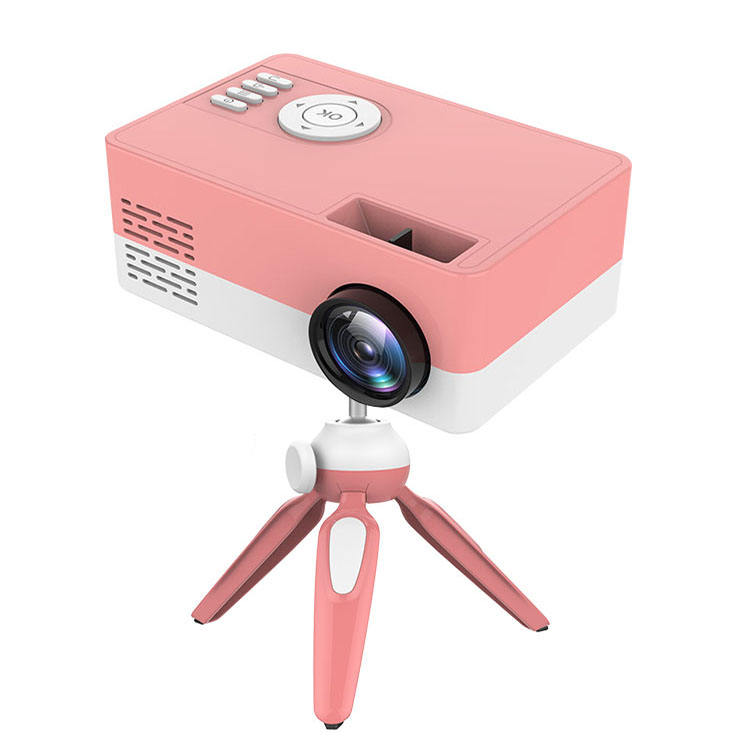 New J9A portable customizable projector with bracket HD mini cinema