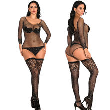 New Sexy Fishnet Bodystocking rhinestone shinny  Bodysuit jumpsuit Lingerie