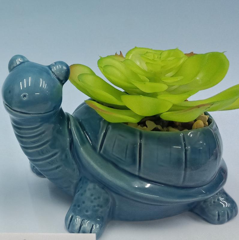 Лидер продаж керамика сад крытый desktop Черепаха горшок украшения для сочных растений