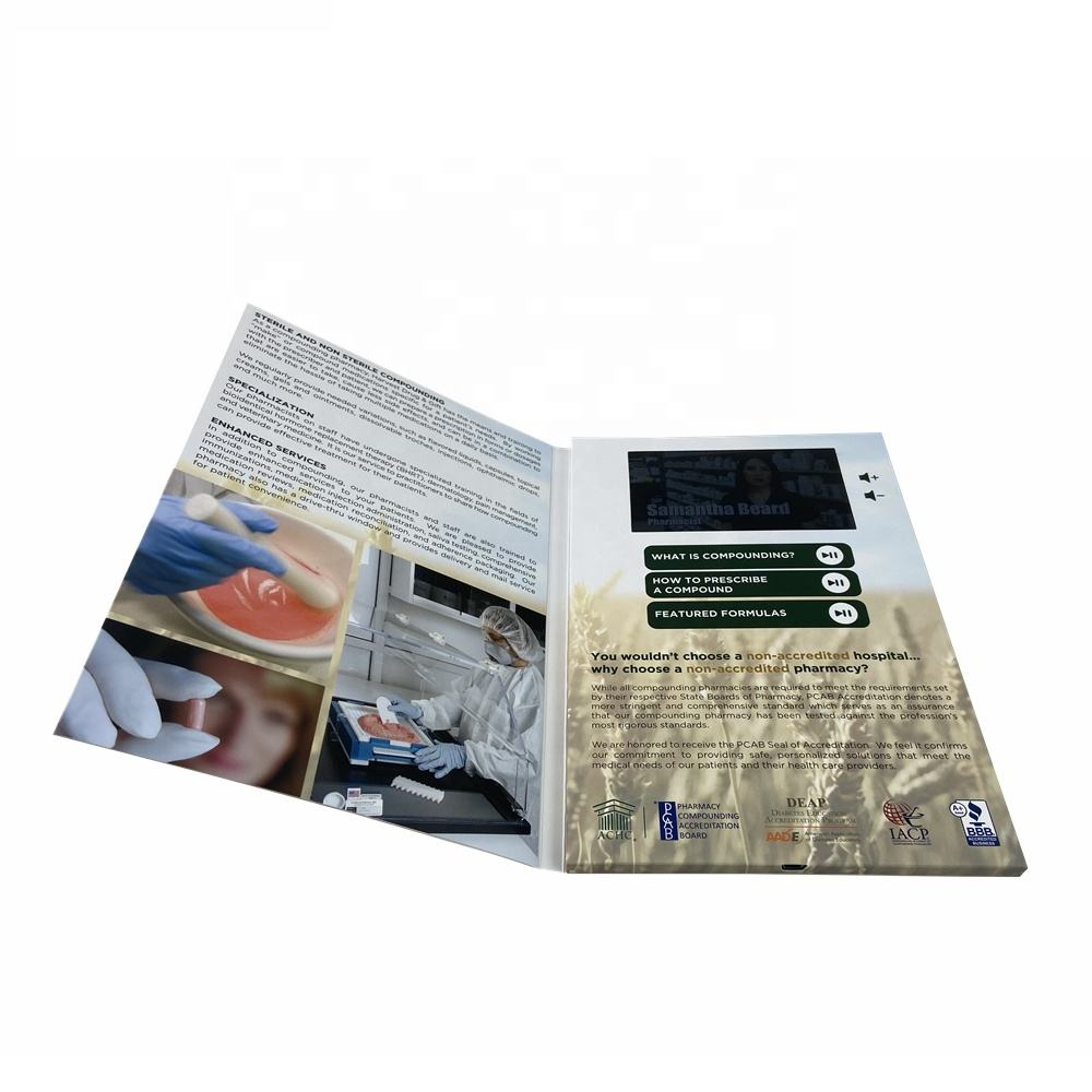 LCD Video Greeting Card/LCD Video Brochure/LCD Video Book for advertisement
