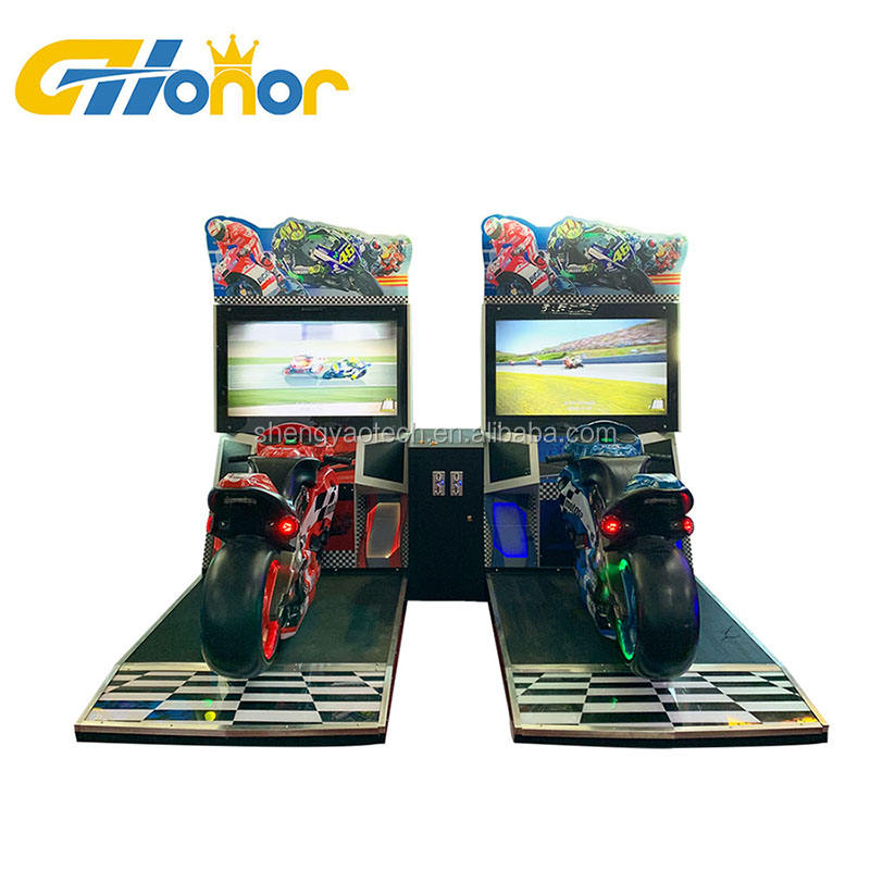 "Indoor Speeltuin 42 ""Lcd Arcade Racing Simulator Video Game Console Muntautomaat Motor Racing Game Machine"