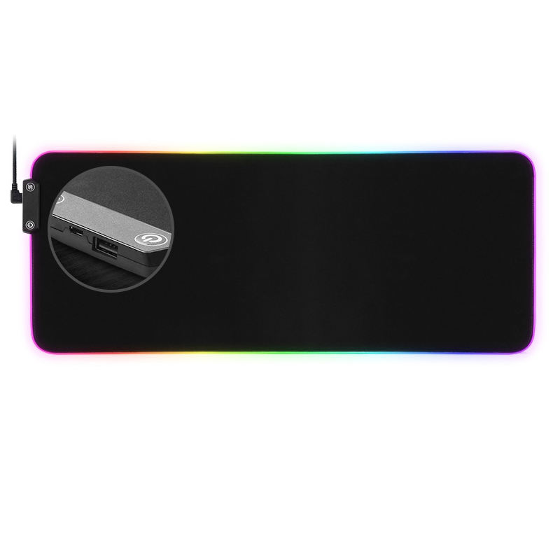 Customizable animated xxl RGB led gaming mouse pad with 1 HUB usb port