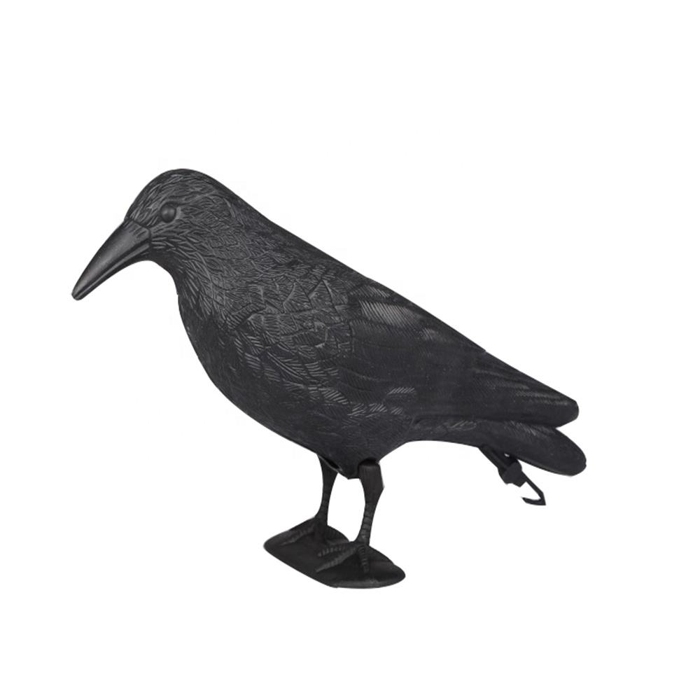 Factory Custom Low Price Life-Like PE Crow Decoy For Hunting
