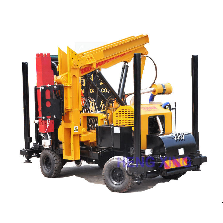 Maintenance hydraulic piling machine small pile driving equipment