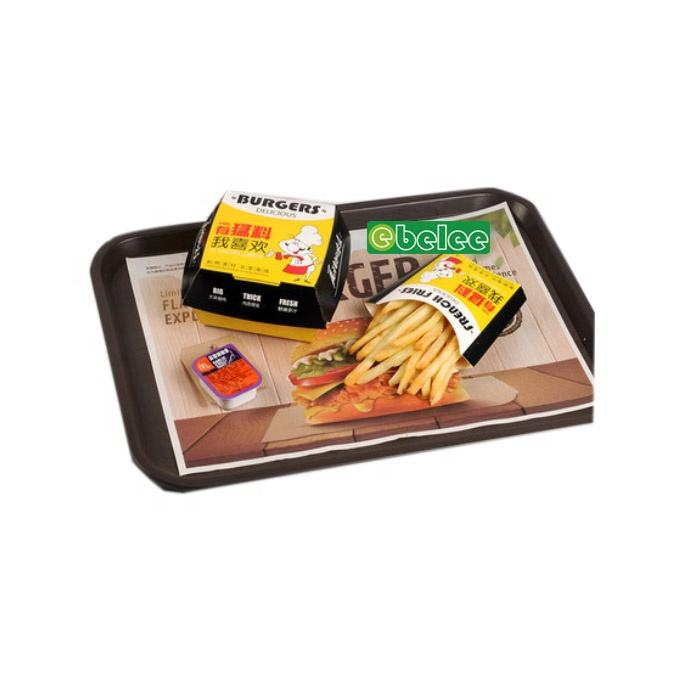 Food Service Anti Slip Paper Tray Mats/Liners