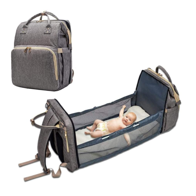 Multifunctional Portable custom tote diaper bag bed
