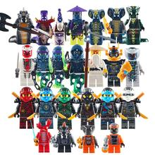 24pcs/set Amazon hot sale ninjago Ghost Evil Kai action figure DIY Building Blocks mini Bricks Toys For Children Gift giftings