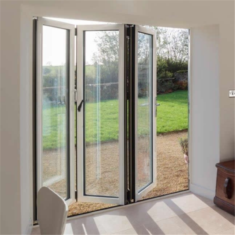 Lowes aluminium tempered glass folding door