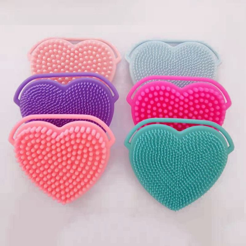 Bpa Free Eco Friendly Heart-shape Deep Facial Cleansing Silicone Facial Brush