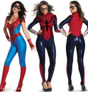 Role play fancy dress super hero Spider-man cosplay costumes for adult women