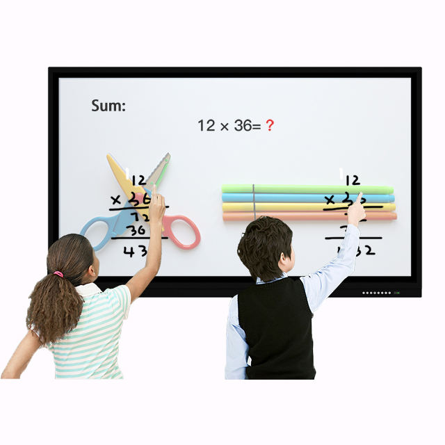 55 65 75 86 inch LCD interactive smart board,tv wall mount touch screen monitor for education,portable whiteboard stand