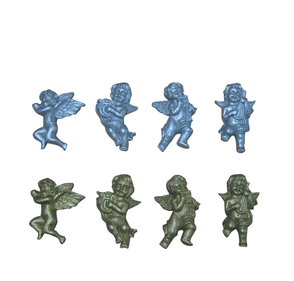 Christmas poly Resin 10sets Angel with musical instruments table decoration