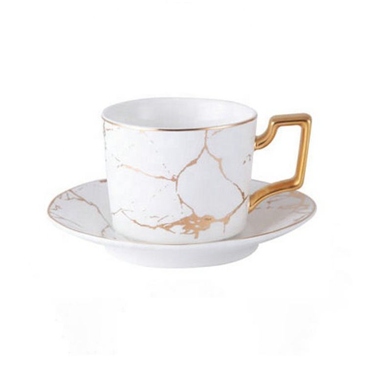 250ml Romantic Gift Ceramic Coffee Cups Tea Cups and Saucer Sets