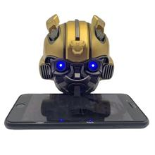 2019 New Design Bumblebee Helmet Bluetooth Speaker with Gift Box Hand Mini Cartoon Transformers Subwoofer Wireless