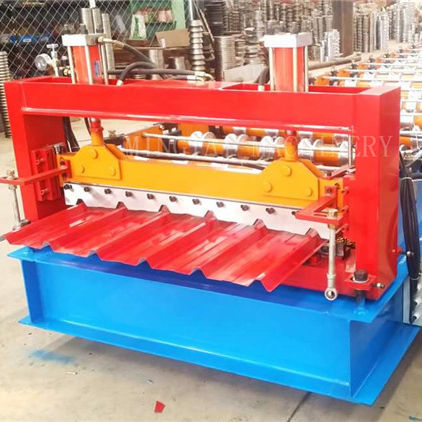 Corrugated zinc coated metal roof sheet roll forming machine