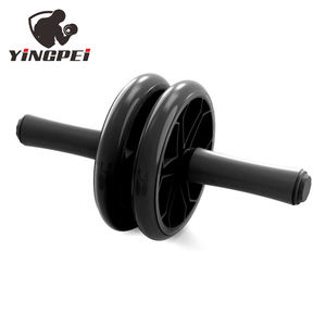 Dinding Pulley dan Push Up Bar Set Double Ab Wheel Roller Kebugaran Gym Perut Perlawanan Latihan