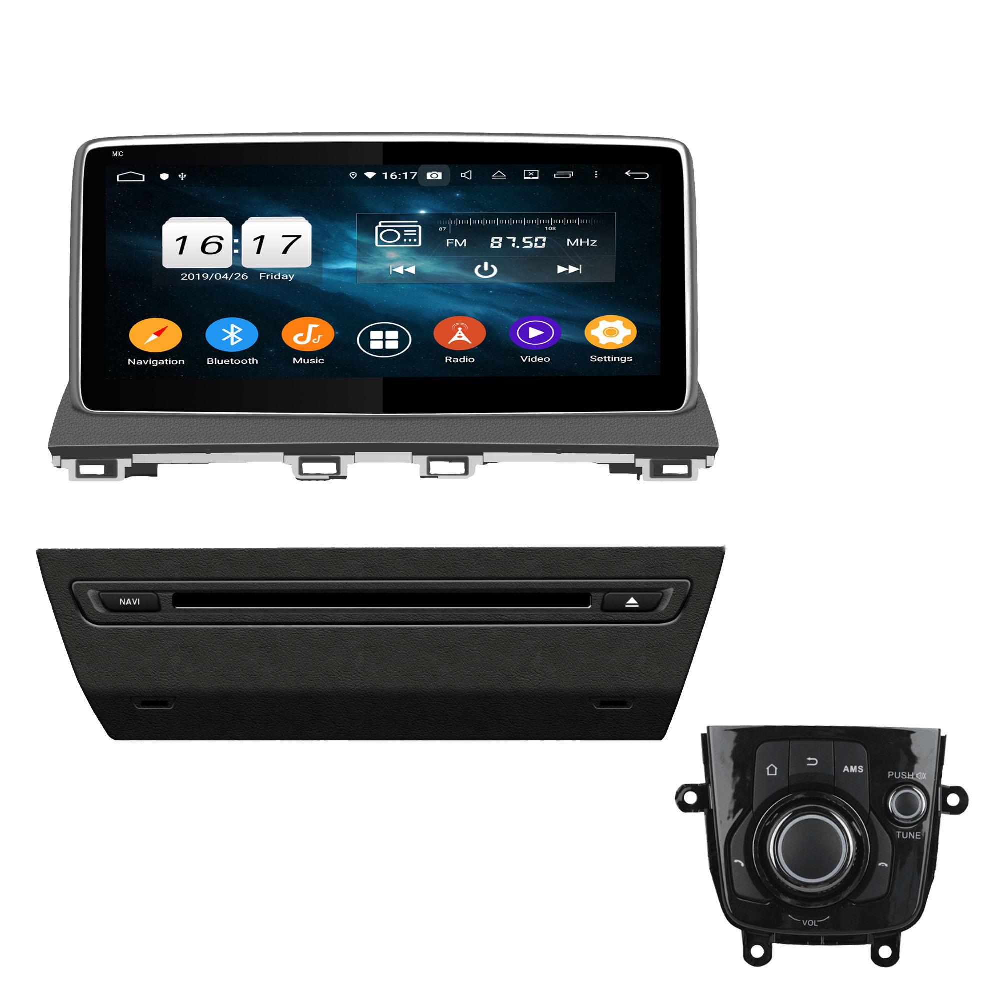 KD-1118 Android 10.0 Hot-Selling PX5 10.1 inch Car Radio Gps Navigation Stereo For Mazda 3 Axela 2014-2016