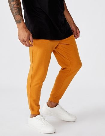 Slim fit plain 100% cotton sweat pant