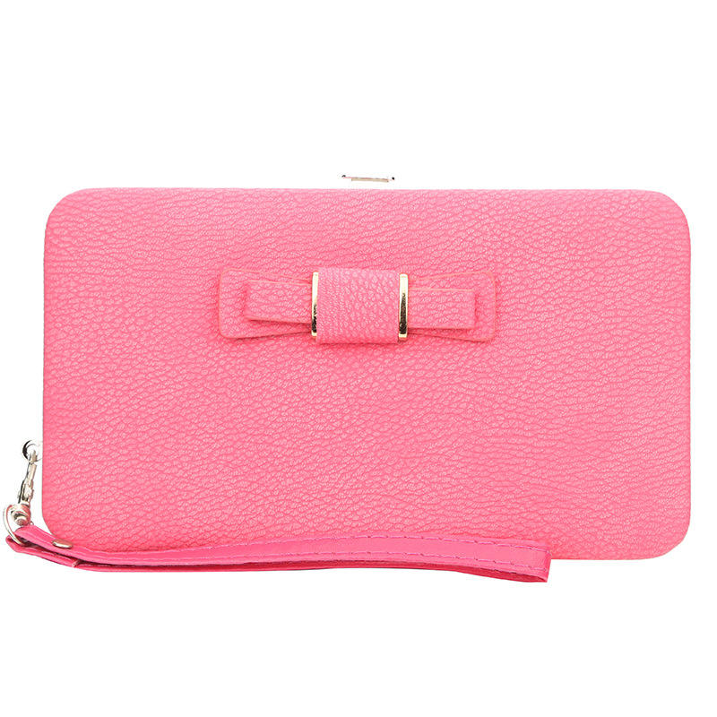 Fashion clutch bag lady korean brand zipper girls wrist wallet cell phone ladies long butterfly purse