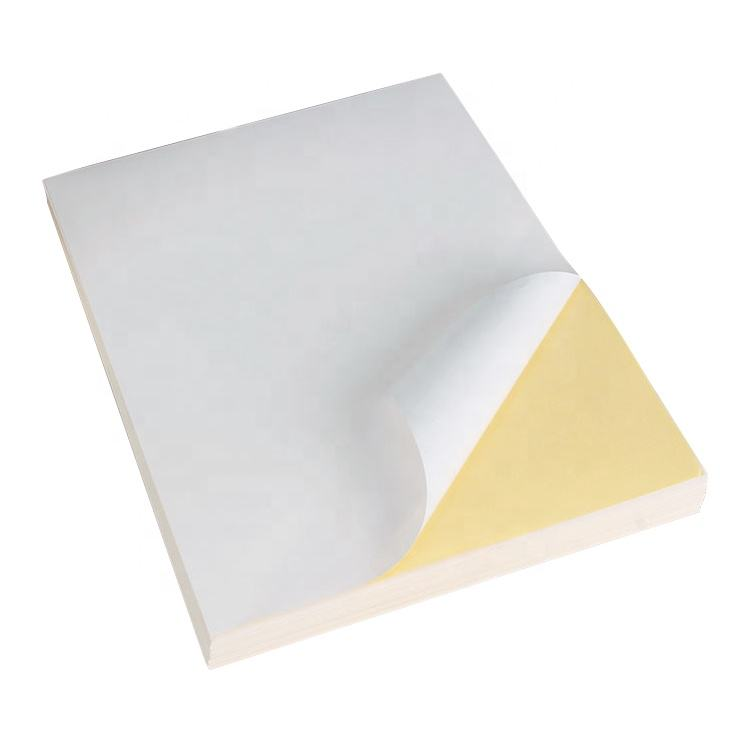 A4 size full sheet printable glossy white self adhesive label sticker paper for laser printer