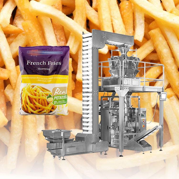 Automatic frozen food plantain banana chips french fries packing machine