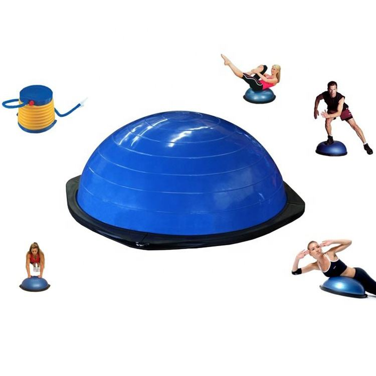 Wholesale Fashion Eco-friendly PVC Fitness Half Yoga Balance Ball