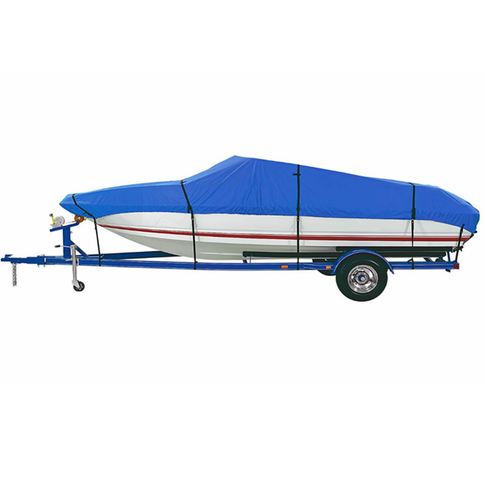 Water Proof Heavy Duty UV Resistant Boat Cover for V-Hull Fishing Boat, Runabout, Fish&Ski; Pro-style bass Boat 20-22 ft