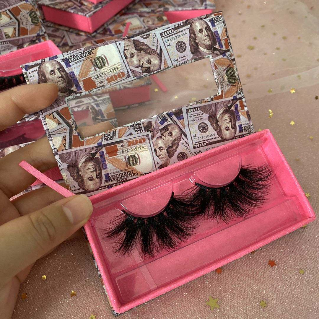 Custom Own Brand thick dramatic mink eyelash 25mm long soft lashes3d wholesale vendor with high quality