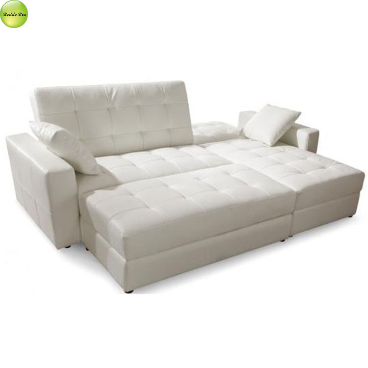 Hot sale modern living room l shape leather sofa bed