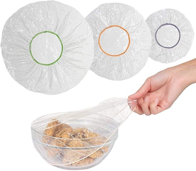 Reusable Plastic Bowl Covers with Elastic Edging For Food Storage Covers And Storage Containers