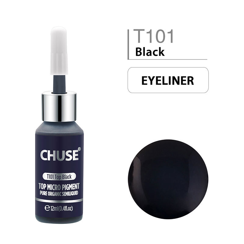 CHUSE Top Black Permanent Makeup Color 12ml Make Up Tattoo Pigment