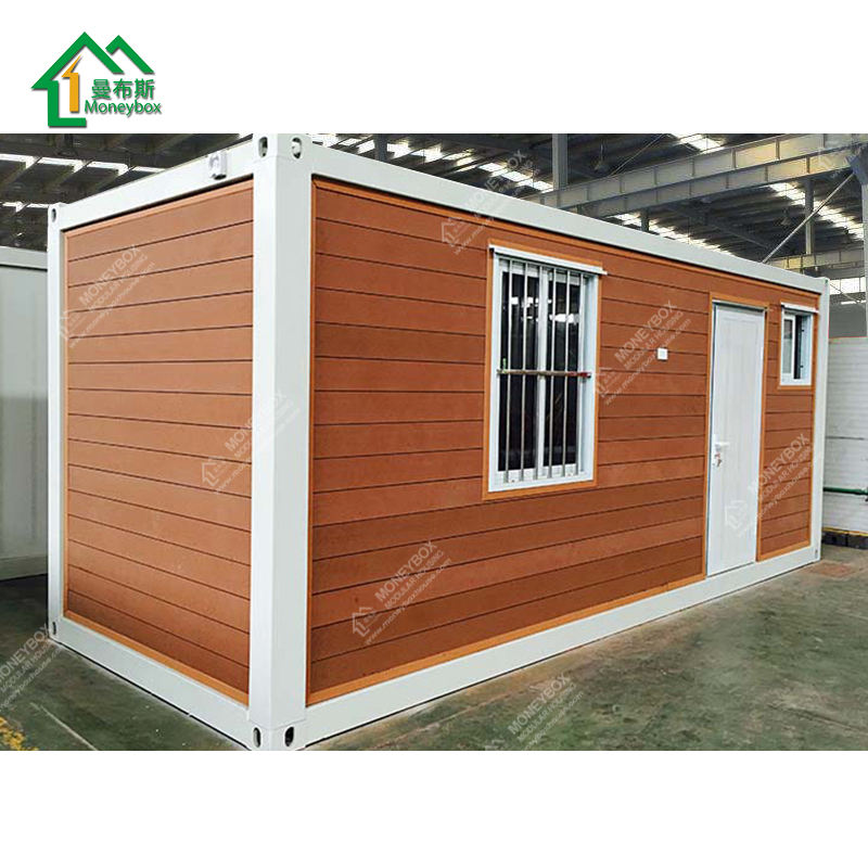 Wooden House/Fast prefabricated lovely small cabin shipping container house villa